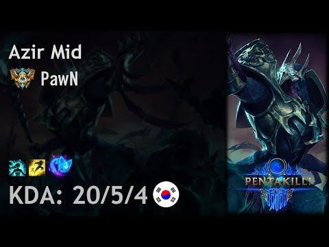 Azir Mid vs Twisted Fate - PawN - KR Challenger Patch 7.22