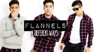 HOW TO WEAR A FLANNEL SHIRT: 4 DIFFERENT WAYS (MEN'S FASHION) | JAIRWOO