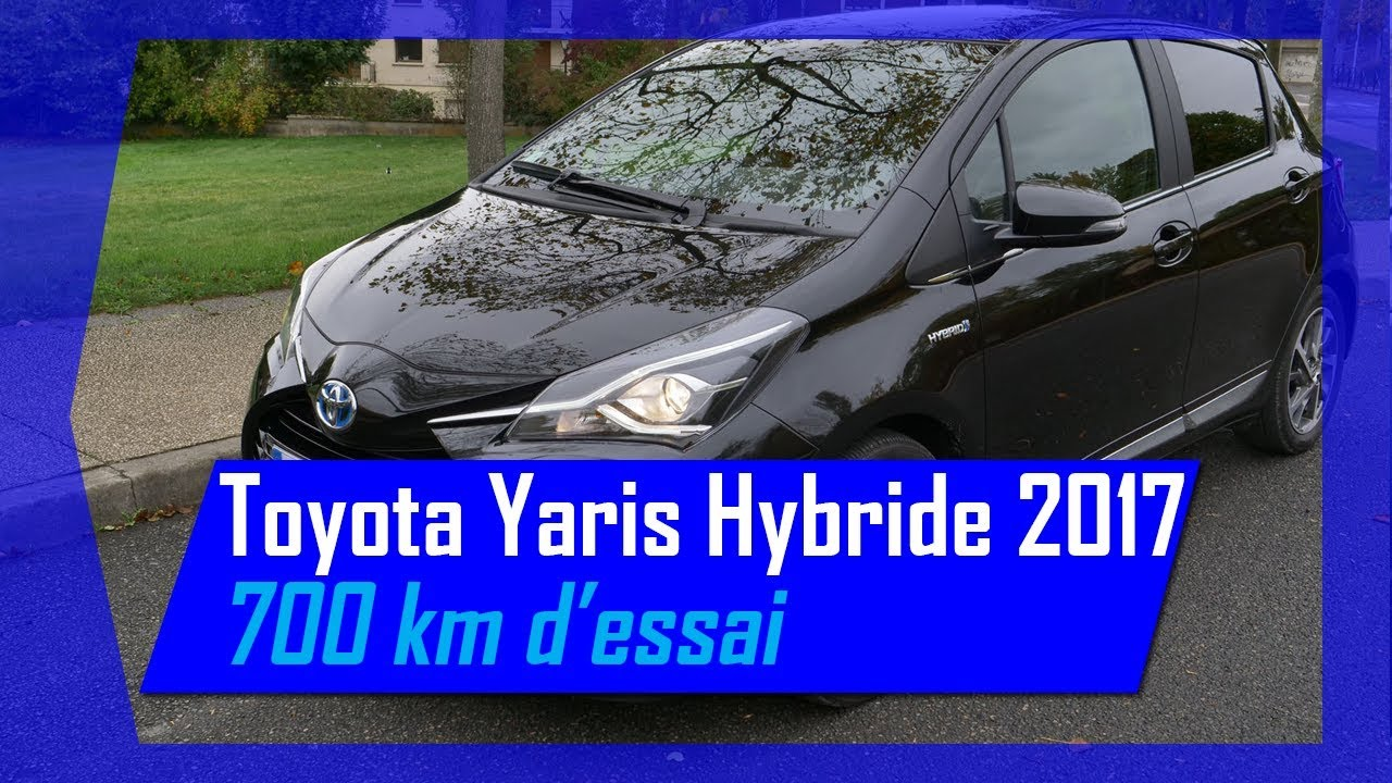 essai toyota yaris hybride chic 2017 sur 700 km hybrid life youtube. Black Bedroom Furniture Sets. Home Design Ideas