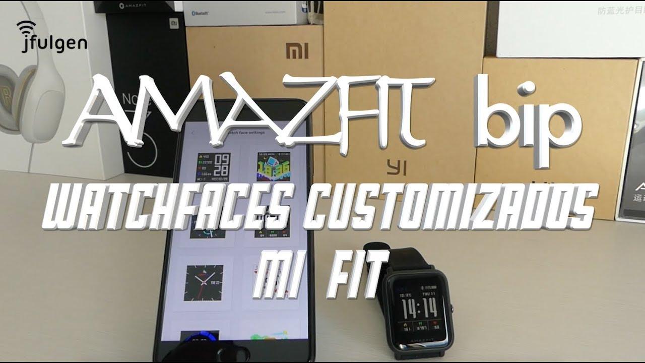 AmazFit Bip Instalar Watchfaces Customizados con MiFit