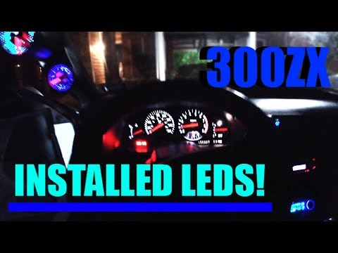 Installed LED Bulbs In The 300zx Gauge Cluster!