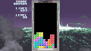 Sega Tetris, 999999 points, 670 lines, level 99, part 2