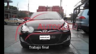 AutosLed: Personalización de faros Hyundai Accent 2013
