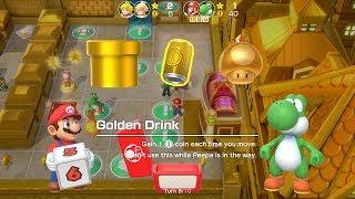 Super Mario Party Partner Party #72 Tantalizing Tower Toys Mario & Yoshi vs Peach & Rosalina