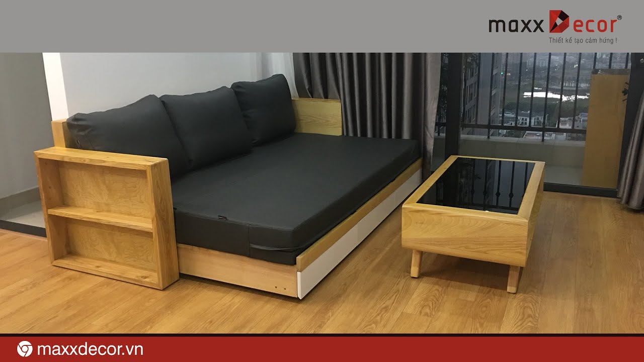 Sofa Giường Gỗ Mdg 128i Maxxdecor Youtube
