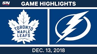 NHL Highlights | Maple Leafs vs. Lightning - Dec 13, 2018