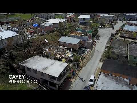 Aerial Footage Shows Hurricane Maria Damage in Puerto Rico