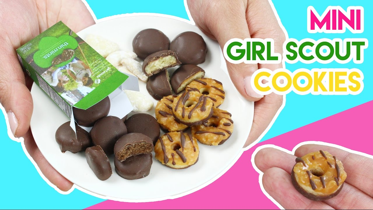 how to make mini girl scout cookies   youtube