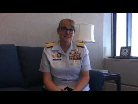 U.S. Coast Guard district commander June Ryan discusses her gender