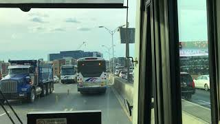 A Ride on the The Lincoln Tunnel Exclusive Bus Lane leading to New York City.