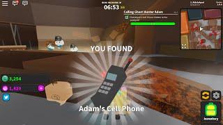 ROBLOX Ghost Simulator Game - QUEST - Where to Find Adam's cell phone hidden in Blox City Junkyard