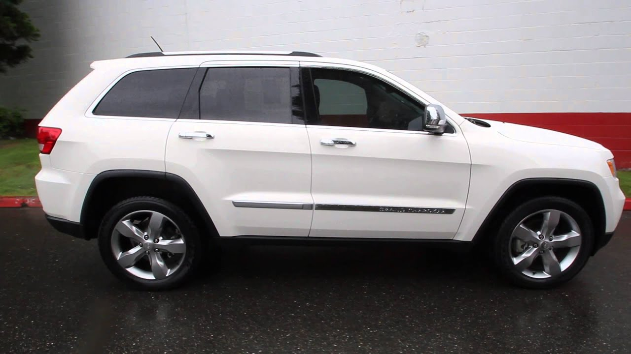 2012 jeep grand cherokee limited 3 6l v6 stone white cc103773 seattle bellevue youtube