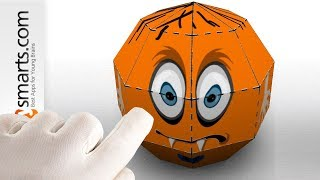 Make a Paper Pumpkin with iPad app (and Ozobot robot) - fun futorial for kids