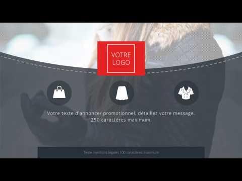 Modèle d'animation vidéo pour la pub en ligne - Commerce de proximité