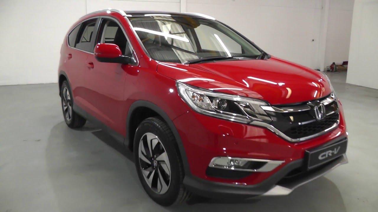 Honda CR-V 1.6 EX in rally red , video walkaround - YouTube