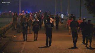 Protestors take over I-10 Tuesday night