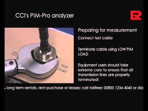 How to video: Introduction to CCI's PIM-Pro analyzer- PIM test | Electro Rent Europe