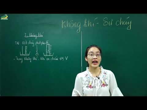 Hóa Học Lớp 8 – Bài 28 Không khí – Sự cháy | Cô Nguyễn Thị Kiều Anh