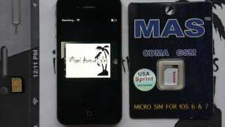 How to Unlock Sprint Verizon iPhone 4S up to iOS 7.0.6 (No SMS / data issues!)