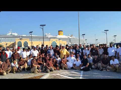 Gulf Ventures / Costa Cruise Ship Team at Port Rashid in Dubai