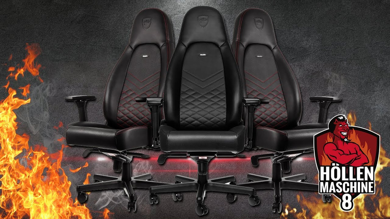 Gaming Thron Noblechairs Icon Hollenmaschine 8 Gaming Pc Youtube