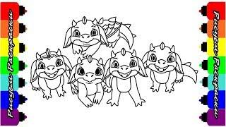 Лего Эльфы Драконы Раскраски Видео для детей Рисуем Раскраски