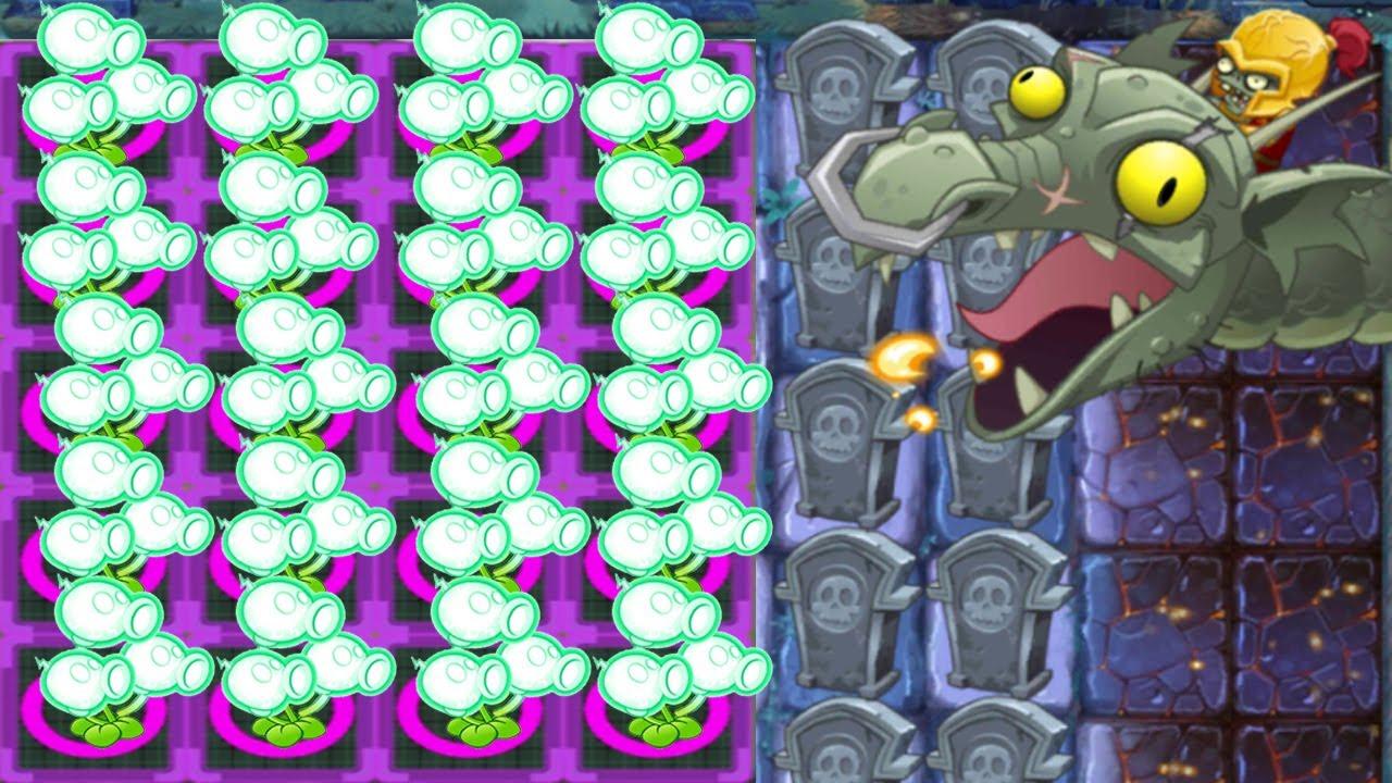 Plants vs Zombies 2 Mod Electric Peashooter  vs Zombot Dark Dragon