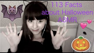 ASMR🐱🐾 Whispering 113 Facts about Halloween🎃in Dutch and English英語とオランダ語でハロウィンについての豆知識をささやく🎃👻💗