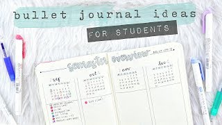 Bullet Journal Spreads for Students | Bujo Setup for School!