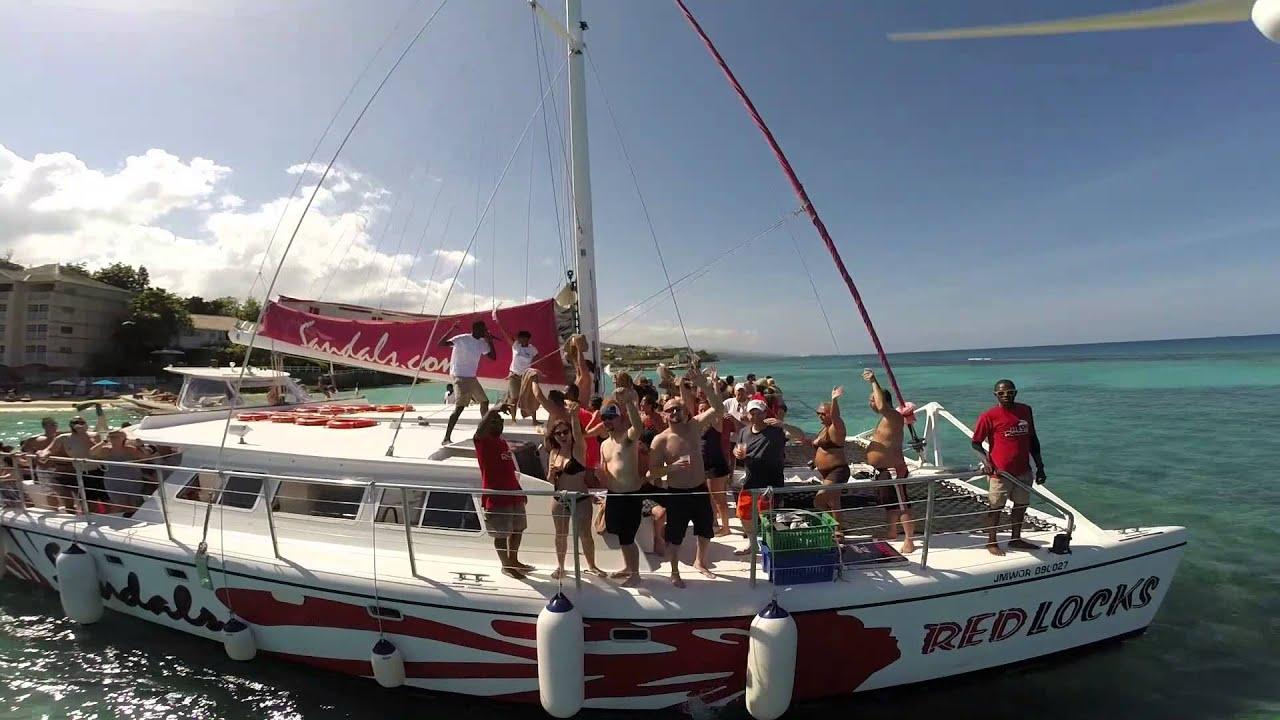 Ocho Rios Jamaica Sandal's Grand Riviera Catamaran Booze ...