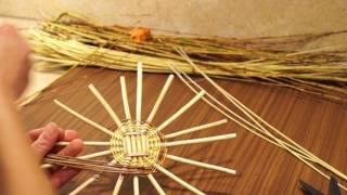 Русская ива. Урок 8. Плетение круглого донышка послойным плетением