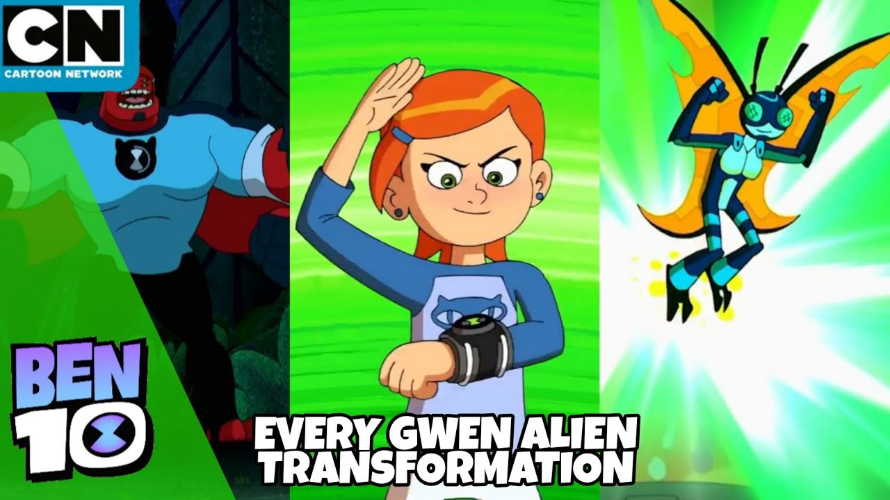 Download Ben 10 Reboot | Every Gwen Alien Transformation | Cartoon Network