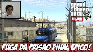 GTA V - INVADINDO TUDO! ÉPICO! Fuga na Prisão! (DLC Heists) (Ps4)