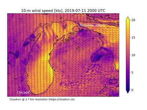 Wind Forecast For The 2019 Race To Mackinac