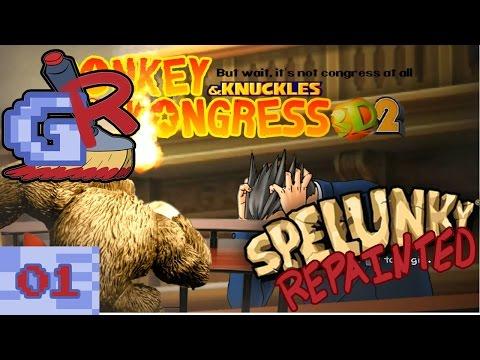Scrunkus || Spelunky Repainted Part 1 (Resident Evil Part 2 Afterwards)