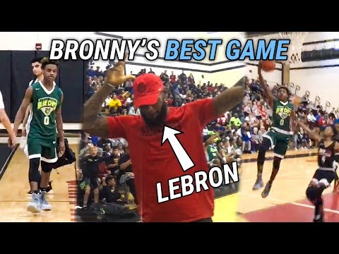 LeBron James CELEBRATES As Bronny Goes Off For 21! LeBron Jr Can REALLY PLAY 🔥