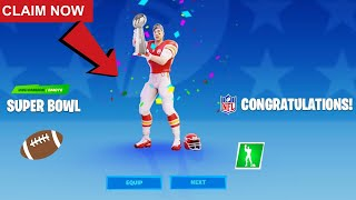 How To Claim FREE NFL Items In Fortnite! CLAIM NFL SUPER BOWL SKINS, EMOTES, PICKAXE & MORE FOR FREE