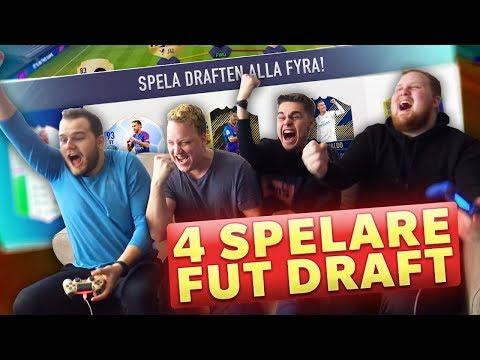 SINNESSJUK 4-MANNA FUT DRAFT!! | w/ GGFROLLE, OLLE MCDULLE & JEWANDERZ | FIFA 18