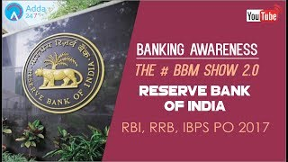Banking Awareness | Reserve Bank Of India | IBPS RRB PO & SSC CGL | Online Coaching for SBI IBPS