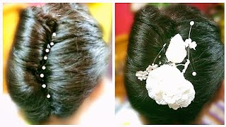 Amazing French Knot or French Twist Hairstyle for beautiful Girls in Bengali