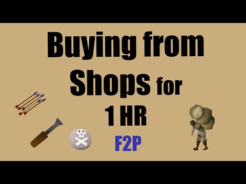 [OSRS] Buying from Shops for 1 hour in F2P - An Oldschool Runescape Speedrun