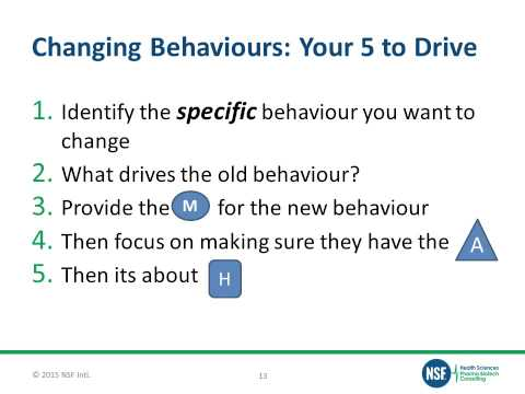 Free Webinar - Changing Behaviors in the Workplace - How to Educate, Not Train