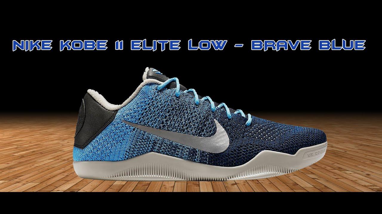 new concept f0b4d 4173c NIKE KOBE 11 ELITE LOW - BRAVE BLUE - BASKETHANE