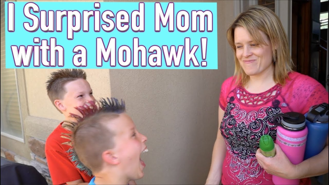 Download I surprised my mom with a Mohawk!