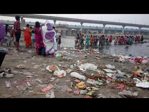 Yamuna River condition after Ganesh Bisarjan, New Delhi and Noida