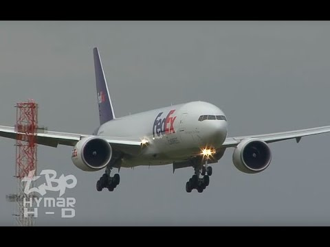 FedEx Boeing 777 Triple Seven Stansted Airport A340 Air AsiaX MD11 Lufthansa