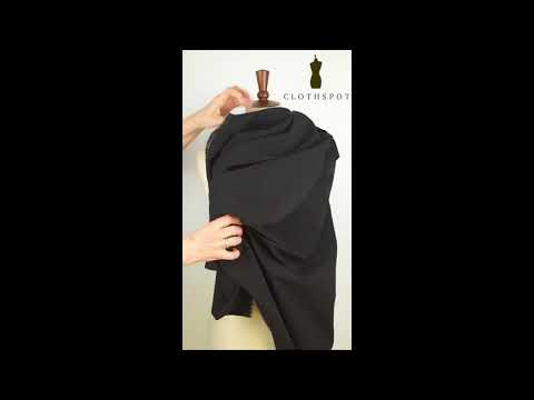 'Gamine' classic black stretch bengaline fabric