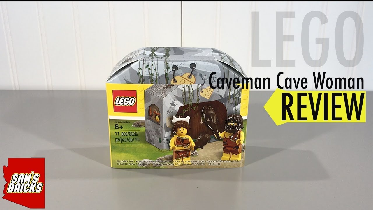 Man Cave Review : Lego cave man woman minifigure review 5004936 youtube