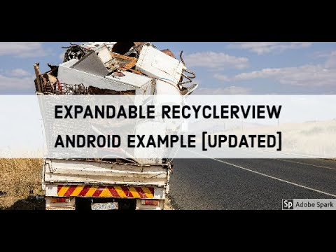 Expandable Recyclerview Android Example