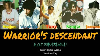 HOT 에이치오티  Warrior39s Descendant Colorcoded lyrics HanRomEng